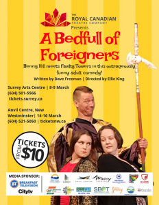 RCTC presents 'A Bedfull of Foreigners' @ Surrey Arts Centre