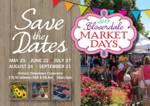ACS: Cloverdale Market Days 2019 | VENDOR DEADLINE @ Downtown Cloverdale